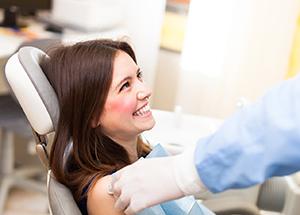 Dentist preparing a patient